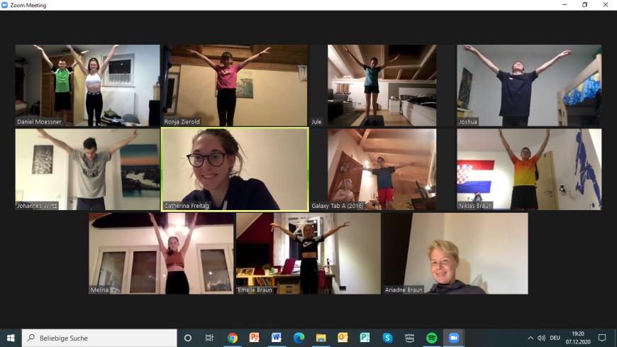 ScreenShot eines Zoom-Meetings
